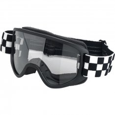 Biltwell Moto Goggles 2.0 Checkers Black