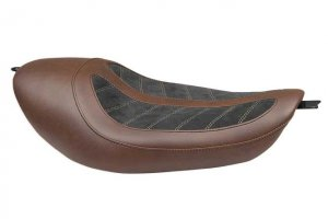 Mustang Fred Kodlin Signature Seat Black Brown for Sportster XL 04-06 & 10-17