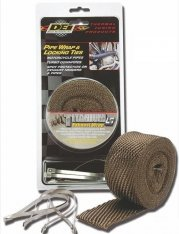 DEI Exhaust Wrap Titanium 2″ (50mm) x 25ft (7,6m) with Locking Ties Kit