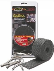 DEI Exhaust Wrap Black 2″ (50mm) x 25ft (7,6m) with Locking Ties Kit