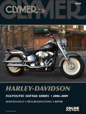 Clymer Update Repair Manual HD FLX/FXS/FXC Softail 2006-2009 M250
