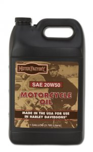 Motor Factory Motorcycle Oil SAE 20w50 Gallon