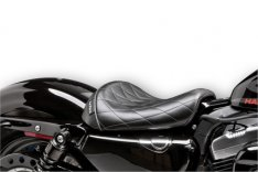 Le Pera Bare Bones Diamond Stitch Seat for Sportster 48 and 72