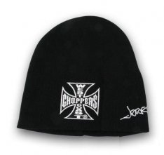 West Coast Choppers Iron Cross Basic Beanie