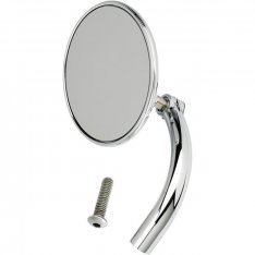 Biltwell Utility Mirror Round Perch Mount Chrome
