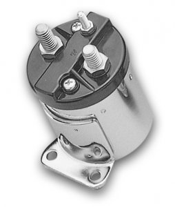 Starter Solenoid Single Bracket Chrome