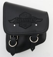 La Rosa Softail Saddlebag with Jammer Logo Black