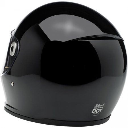 Biltwell Lane Splitter Helmet Full Face Gloss Black