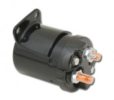 Starter Solenoid Single Bracket Black
