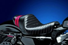 LePera Stubs Spoiler Solo Seat Black Red for Sportster XL 07-09
