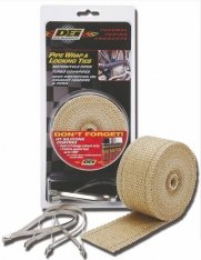 DEI Exhaust Wrap Tan 2″ (50mm) x 25ft (7,6m) with Locking Ties Kit