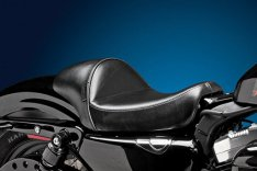 LePera Stubs Cafe Solo Seat Smooth Black for Sportster XL 04-06 & 10-17