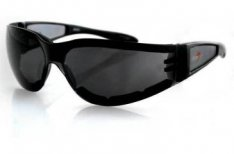 Bobster Shield II Motorcycle Sunglasses Black Frame Smoke Lens