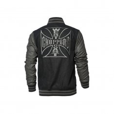 West Coast Choppers Original Cross Wool Baseball bunda šedo čierna