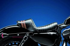 LePera Stubs Spoiler Solo Seat Black Brown for Sportster XL 04-06 & 10-17