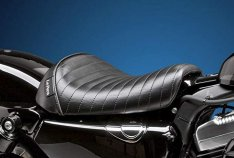 Le Pera Bare Bones Pleated Stitch Seat for Sportster 48 and 72
