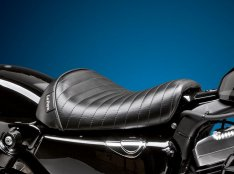 Le Pera Bare Bones Solo Seat Pleated Stitch for Sportster XL 82-03