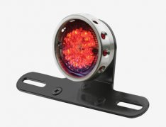 Retro Drilled Style Taillight Aluminium