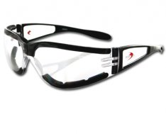 Bobster Shield II Motorcycle Sunglasses Black Frame Clear Lens