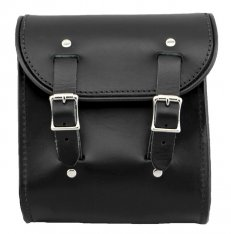 La Rosa Universal Leather Sissy Bar Bag Black
