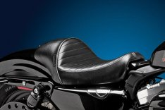 LePera Stubs Cafe Solo Seat Pleated Stitch Black for Sportster XL 04-06 & 10-17