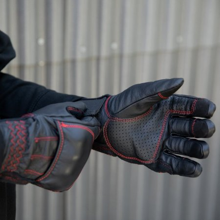 Biltwell Belden Gloves Redline