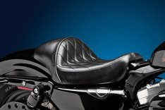 LePera Stubs Cafe Solo Seat Diamont Stitch Black for Sportster XL 04-06 & 10-17