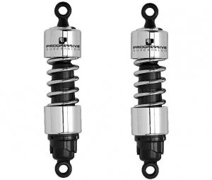 "Progressive Suspension 412 Series Shocks 12"" Chrome Heavy Duty"